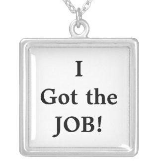 Ich erhielt den JOB!  Persönliche Feier-Halskette Halskette Mit Quadratischem Anhänger