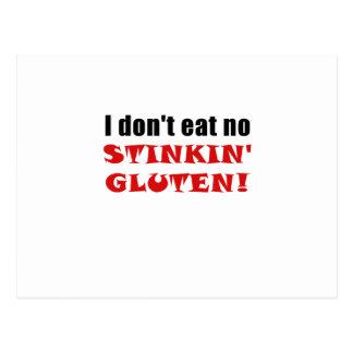 Ich esse nicht kein Stinkin Gluten Postkarte
