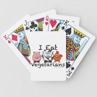 Ich esse Vegitarians Bicycle Spielkarten
