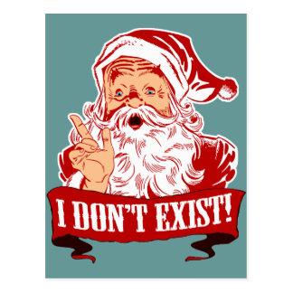 Ich existiere nicht, Weihnachtsmann Postkarte