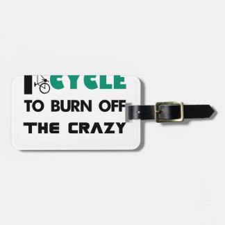 Ich fahre rad, um das verrückte, Fahrrad Kofferanhänger