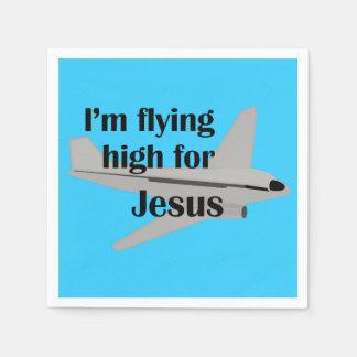 Ich fliege hoch für Jesus Serviette