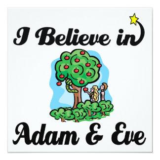 ich glaube an Adam und Vorabend Einladungskarte