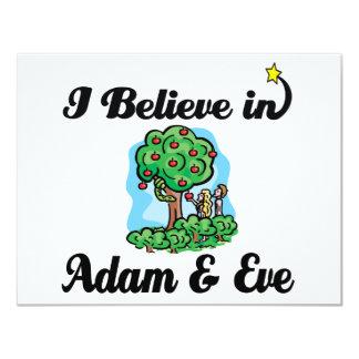 ich glaube an Adam und Vorabend Personalisierte Ankündigungskarten