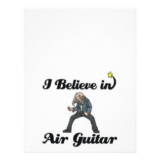 ich glaube an die Luftgitarre 21,6 X 27,9 Cm Flyer