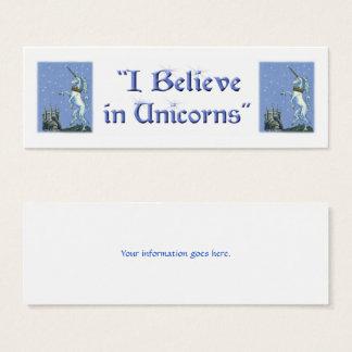 Ich glaube an Einhörner Mini Visitenkarte