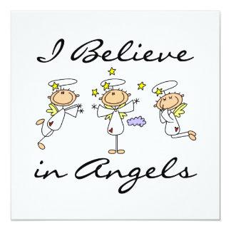 Ich glaube an Engels-T - Shirts und Geschenke Quadratische 13,3 Cm Einladungskarte