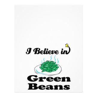 ich glaube an grüne Bohnen 21,6 X 27,9 Cm Flyer