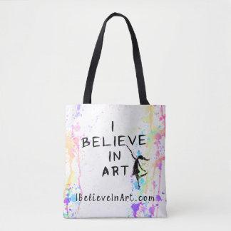 Ich glaube an Kunst-Aquarell Laufförderndes Tasche