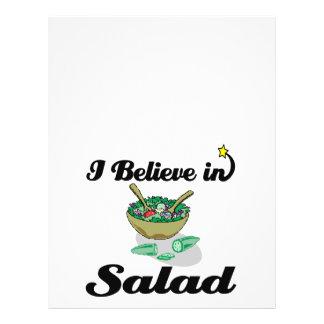 ich glaube an Salat Flyer