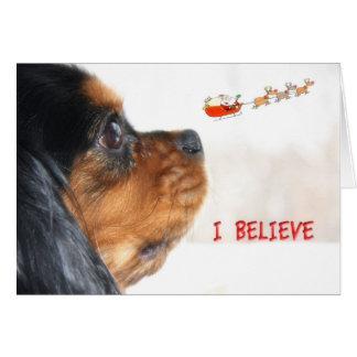 Ich glaube an Weihnachten mit unbekümmertem König Karte