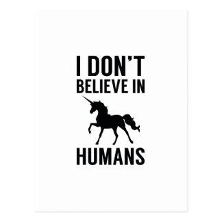 Ich glaube nicht an Menschen Postkarte