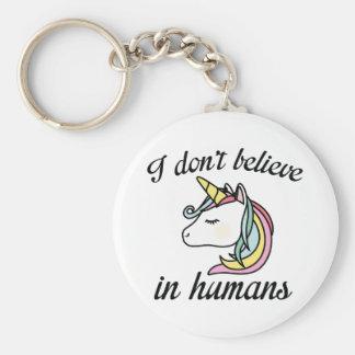 Ich glaube nicht an Menschen Schlüsselanhänger