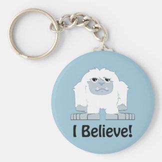 Ich glaube! Niedlicher Yeti Schlüsselanhänger