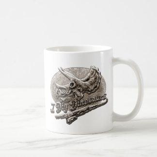 Ich grabe Dinosauriertriceratops-Schädel Kaffeetasse