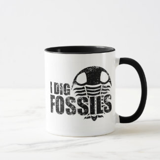 ICH GRABE FOSSILIEN Trilobite Tasse