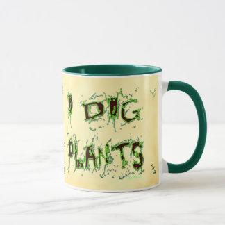 Ich grabe Pflanzen-unordentliche Tasse