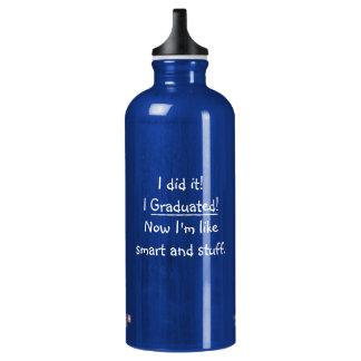 Ich graduierte intelligenter Absolvent-lustigen Aluminiumwasserflasche