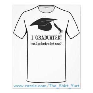Ich graduierte!  Kann ich zurück gehen, jetzt zu 11,4 X 14,2 Cm Flyer