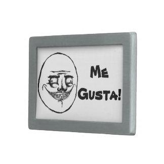 Ich Gusta Meme Art-Gürtelschnalle Rechteckige Gürtelschnalle