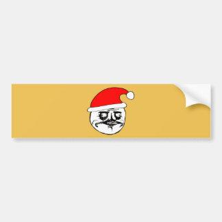 ich gusta Weihnachtenmeme Autoaufkleber