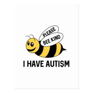 Ich habe Autismus Postkarte
