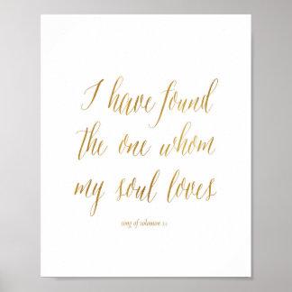 Ich habe das gefunden, wem mein Soul-Lieben Poster
