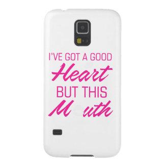 Ich habe ein gutes Herz aber diesen Mund Galaxy S5 Hüllen