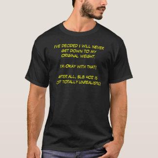 Ich habe entschieden, dass unten gelangend an mein T-Shirt