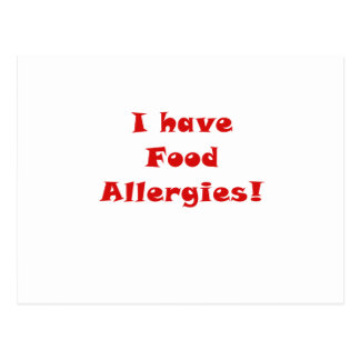 Ich habe Nahrungsmittelallergien Postkarte