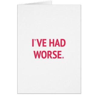 Ich habe schlechteren lustigen Valentinsgruß Grußkarte