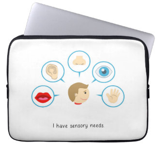 Ich habe sensorischen Bedarf - Laptoprechtssache Laptop Sleeve