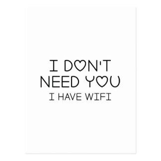 Ich habe Wifi Postkarte
