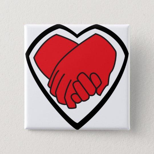 Ich halte Ihre Hand durch @LoganC_Jones Quadratischer Button 5,1 Cm