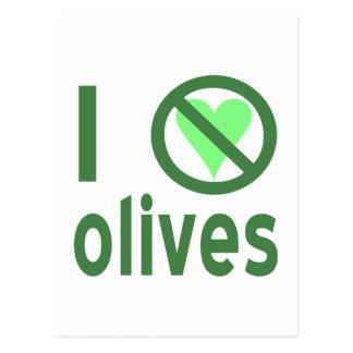 Ich hasse Oliven (Grün) Postkarte
