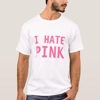 Ich hasse rosa lustiges Witz-Mann-T-Shirt T-Shirt