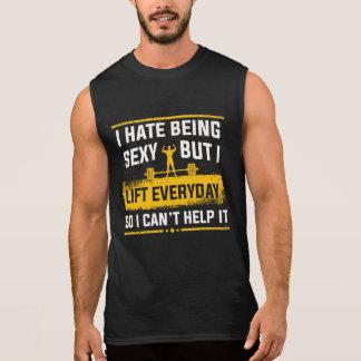 Ich hasse sexy Turnhallen-lustige Behälter sein Ärmelloses Shirt