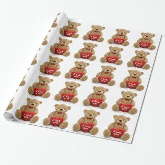 """""""Ich hasse Sie"""" der niedliche Teddybär, der Geschenkpapier"""