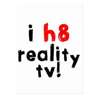 Ich hasse Wirklichkeits-Fernsehen Postkarte