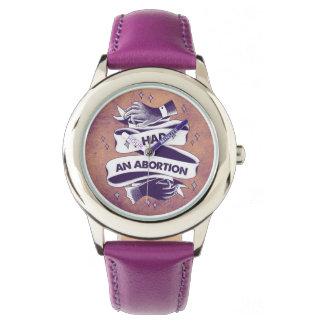 Ich hatte eine Abtreibungs-Uhr Armbanduhr