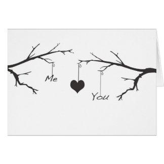 Ich Herz Sie Liebe-Karte Karte