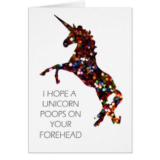 Ich hoffe, dass ein Unicorn auf Ihrer Stirnkarte Grußkarte