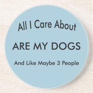 Ich interessiere mich für meine Hunde Untersetzer
