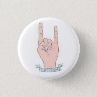 Ich interessiere mich nicht Knopf Runder Button 2,5 Cm