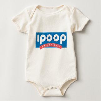 ich kacke tägliches Kleinkind Baby Strampler