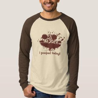 Ich kackte heute Text-Entwurf Brown Smutch T-Shirt
