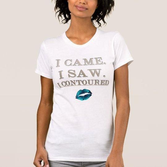Ich kam ich sah, dass ich umriß T-Shirt