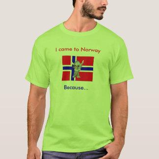 Ich kam nach Norwegen weil T-Shirt
