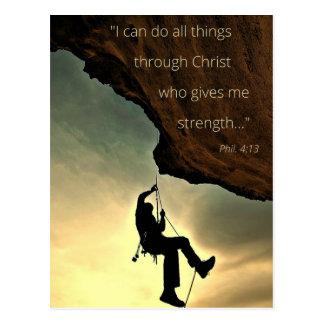 Ich kann alle Sachen durch Christus-Postkarte tun Postkarte