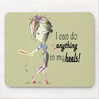 Ich kann Baseball in meinem Heels tun! Spaß-Mädche Mauspads